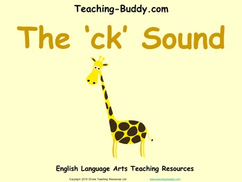 The 'ck' Sound (PowerPoint and worksheet)