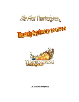 Thanksgiving primary sources and questions from the Americ