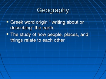 The five themes of Geography and how to read a map