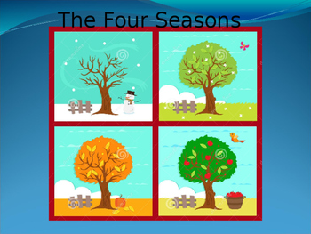 The four seasons for little learners