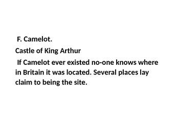 The hunt for King Arthur