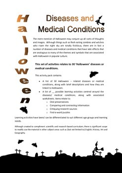 The link between Halloween and select diseases/ medical co