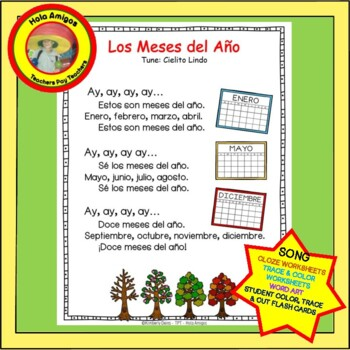 Meses, Spanish months-Song & coordinating printables, flas