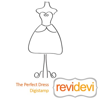 The perfect dress (digital stamp, coloring image) S031