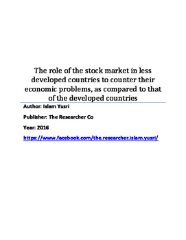 The role of the stock market in less developed countries