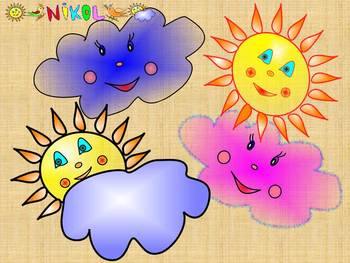 Sun - Cloud - Clip Art - Personal or Commercial Use