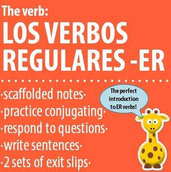 Spanish 1 - The verb: REGULAR -ER VERBS - Intro, Practice,