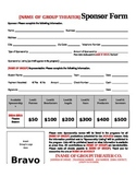 Theater Sponsorship Form