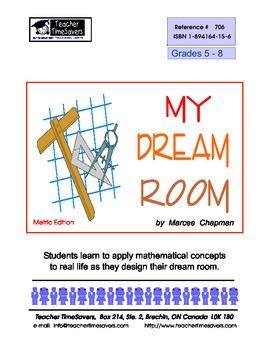 Thematic Math Unit Grades 5-8:  My Dream Room