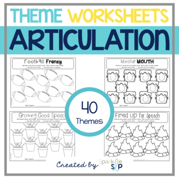 Open-Ended Articulation Thematic Worksheets for Home Practice