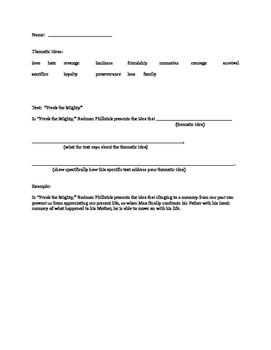 Thematic Statement practice