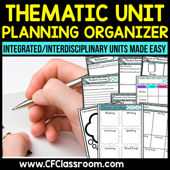 Thematic Unit Planning Organizer {integrated/interdiscipli