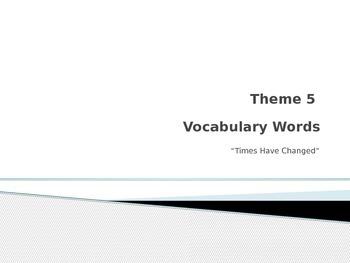 Rigby vocabulary Theme 5