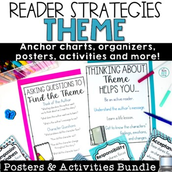 Themes In Literature Activities and Posters Bundle