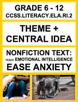 Theme + Central Idea with SEL Nonfiction Article: How to E