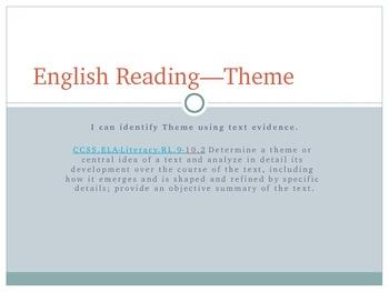 Theme - English Language Arts