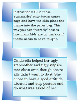 Theme Extension Activity Task Cards