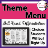 Theme Menu of Activities Based on Bloom's, Differentiated,