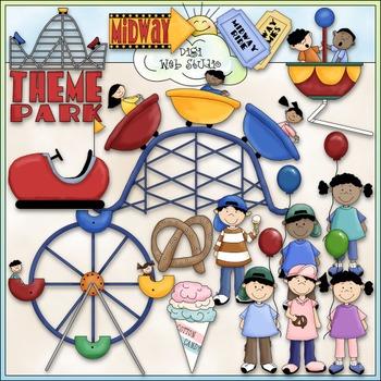 Theme Park Clip Art - Carnival Clip Art - CU Clip Art & B&W