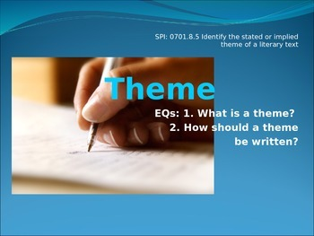 Theme PowerPoint - Thematic Statements