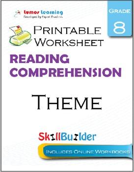 Theme Printable Worksheet, Grade 8