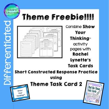 Theme Short Constructed Response Task Card 2 Freebie!