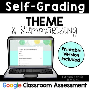 Theme & Summarizing Assessment