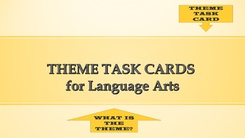 Theme Task Cards  - (grades 5th -8th)