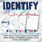 Identify Theme Task Cards & Activity for 4th and 5th grade