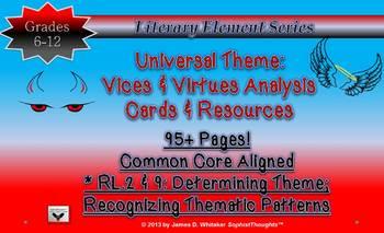 Theme Teaching Unviversal Theme Vices & Virtues Analysis C