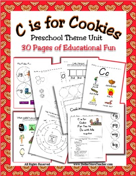 Theme Unit - C is for Cookie - Rhyming, Counting & more -
