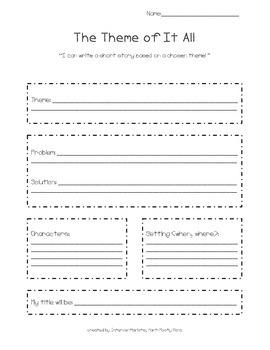 Theme Writing - Planning Sheet