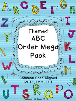 ABC Order Themed Mega Pack