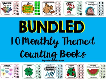 Themed Adapted Counting Book Bundle for all Seasons {Autis