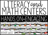 Kindergarten Themed Literacy and Math Centers for the Year