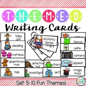 Writing Card Set #5 (Gingerbread Man, Magic Show, Winter,