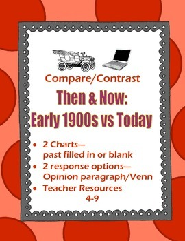 World War I Comparison Chart Early 1900s & Today Pre-Fille