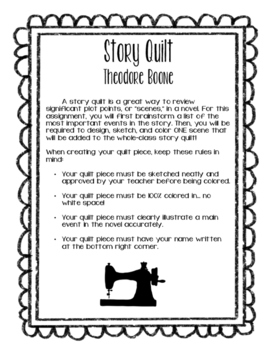 Theodore Boone: Kid Lawyer - Story Quilt Activity