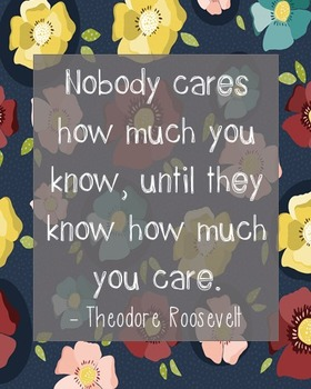 Theodore Roosevelt Inspirational Quote Poster