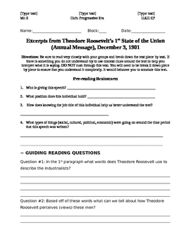 Theodore Roosevelt's 1st State of the Union: How to Deal W