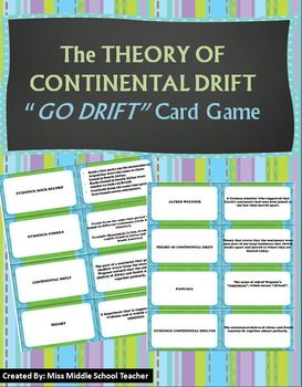 Earth - Theory of Continental Drift 'Go Drift' Card Game