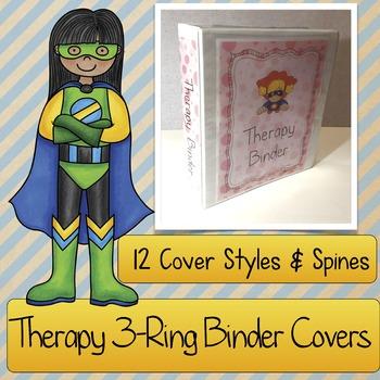 Therapist Binder COVERS: Speech & Language, Occupational T