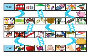 There Is and There Are Chutes and Ladders Board Game