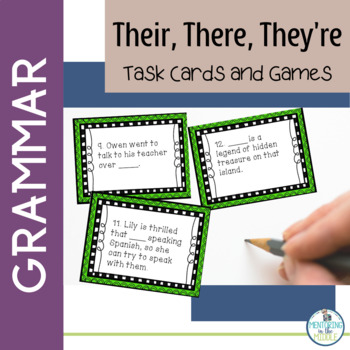 There, Their, They're Task Cards, Game, Worksheet, Interac