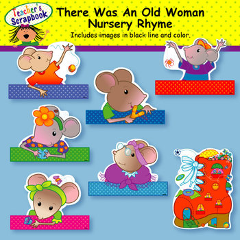 There Was An Old Woman Nursery Rhyme Headbands & Sentence Strips