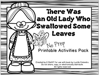 There Was an Old Lady Who Swallowed Some Leaves:  No-Prep