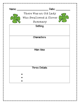 There Was an Old Lady Who Swallowed a Clover Summary Graph