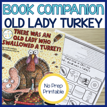 There Was an Old Lady Who Swallowed a Turkey Print and Go