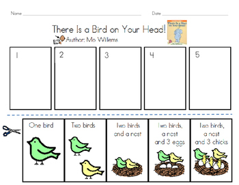 There is a Bird on Your Head - Mo Willems (Sequence/Retell)