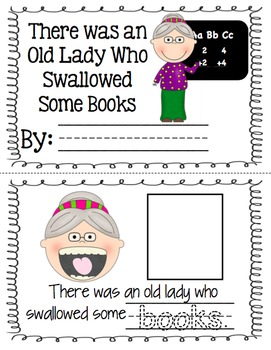 There was an Old Lady who Swallowed Some Books - visuals a